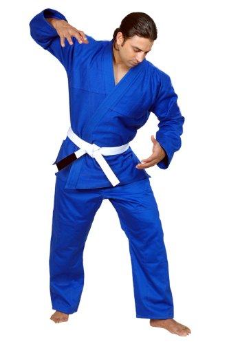Woldorf USA BJJ Kimono Jiu Jitsu Judo Gi Student Blue Color 8 A6 NO Logo Martial Arts, Fighting Uniform, Training Uniforms, Pre-Shrunk, Ultra Light Weight Uniforms