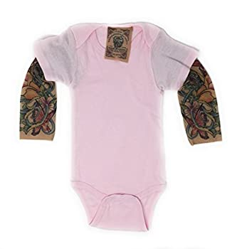 Wild Rose Baby Girls  Tattoo Sleeve Shirt Butterfly Pink 12-18 mos