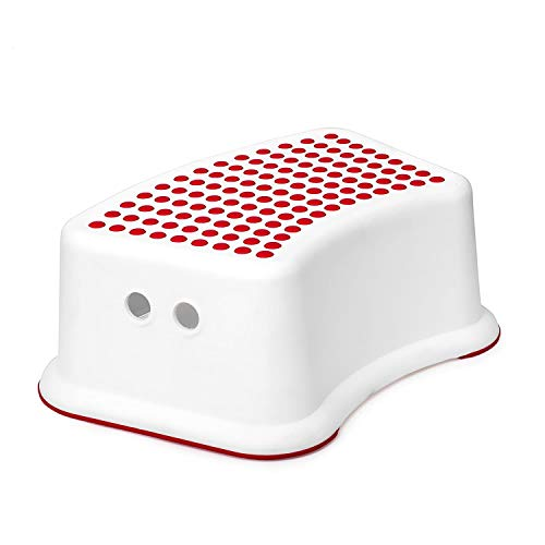 Red Step Stool (2 Pack) - Great for Toddlers Potty Training, Bathroom, Bedroom, Toy Room, Kitchen and Living Room. Perfect for Your House