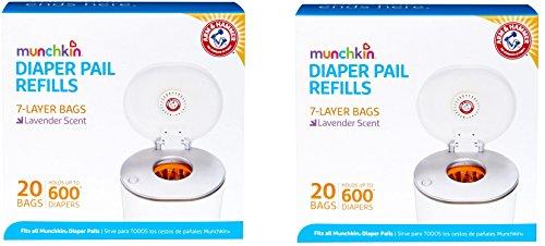 Munchkin Arm & Hammer Diaper Pail Refill Bags, 40-Count
