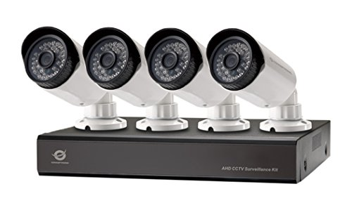 Conceptronic 4-Channel AHD CCTV Surveillance Kit with 4TB WD HD, Purpur, C4CCTVKITD4TB