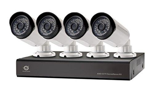 Conceptronic Kit de vigilancia AHD CCTV de Cuatro Canales - Kit de videovigilancia (Bullet, Alámbrico, BNC, Interior/Exterior, CMOS, 25,4/4 mm (1/4'))