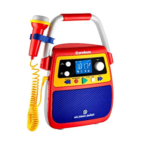 Rádio Infantil Bluetooth Meu Primeiro Gradiente Karaokê GMP104