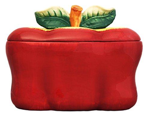 Ceramic Bread Box Apple 13-1/4'L, 87475 BY ACK