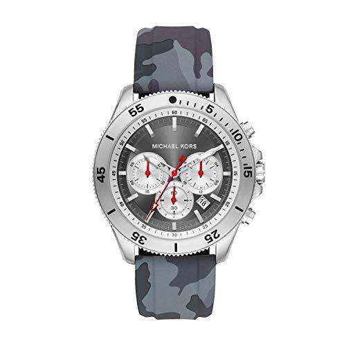Michael Kors herenhorloge chronograaf kwarts horloge met siliconen armband MK8710