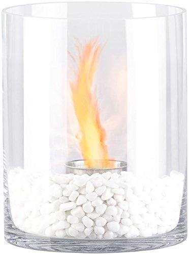 Carlo Milano Ethanol Tischkamin: Glas-Dekofeuer Kasra für Bio-Ethanol (Ethanol Kamine)