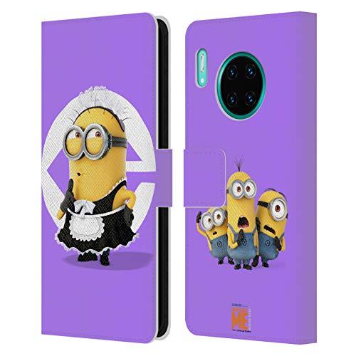 Officiële Despicable Me Bob meid kostuum Minions Lederen Book Portemonnee Cover Compatibel voor Huawei Mate 30 Pro / 5G