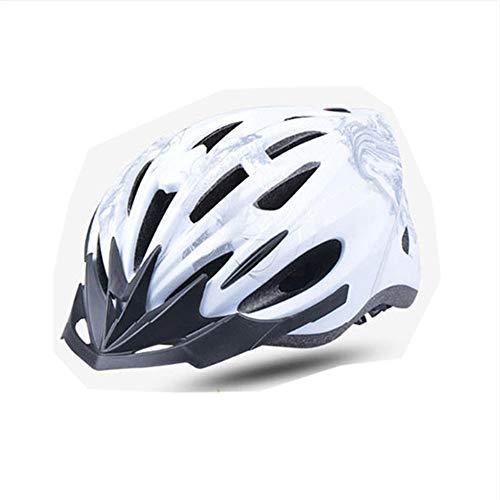 Casco Bicicleta ZWRY Cascos de equitación Montar al Aire Libre Integrado con Led/Red de protección contra Insectos Casco de Ciclismo XL Silver 14