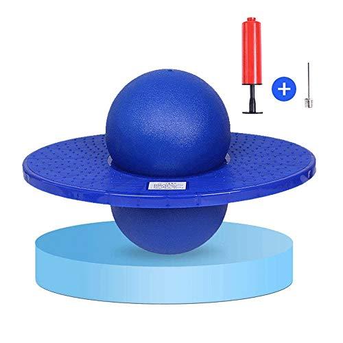JNWEIYU Ball Balance Board Sprungball for Kinder Erwachsene, aufblasbares Spielzeug for Kinder Bouncing Hochsprung, Kindersportgerät, Raum-Trichter Gleichgewicht, Fitnessgeräte (6 Farben for wählen)