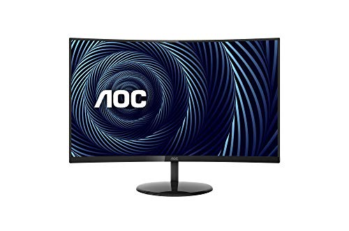 "AOC CU32V3 32"" Super-Curved 4K UHD Monitor, 1500R Curved VA, 4ms, 121% sRGB Coverage / 90% DCI-P3, HDMI 2.0/DisplayPort, VESA, Black"