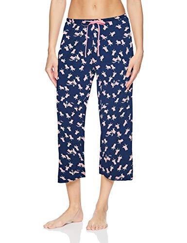 HUE Damen Printed Knit Capri Pajama Sleep Pant Pyjamahosen, Mittelalterlicher Strandkorb, 2X Mehr