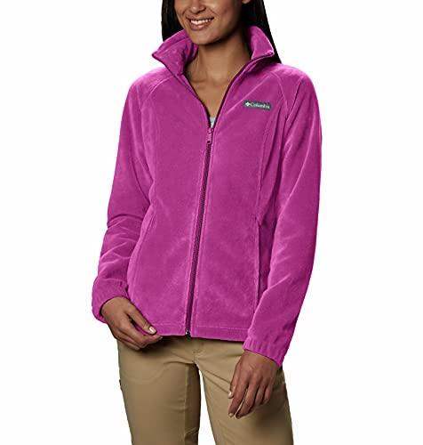 Columbia Plus Size Benton Springs Full Zip Jacket Chaqueta con forro, fucsia, 2X para Mujer