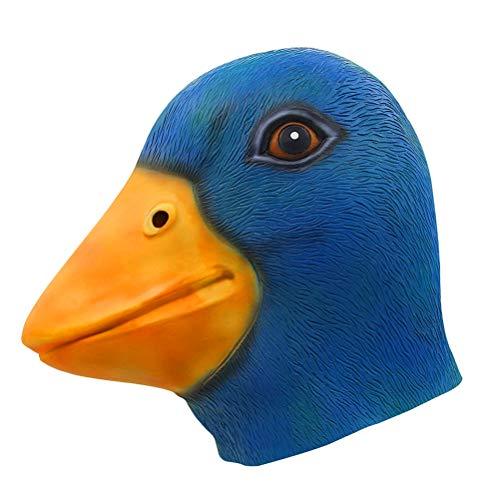 Kikier Halloween-Maske mit Entenkopf, Kostümparty, Tierkopfmaske, Cosplay-Requisiten, FA0930565_BE-1254-1512432871, blau, Head Size, one Size