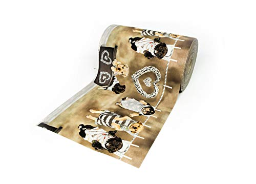 BIANCHERIAWEB Tappeto Passatoia Antiscivolo con Stampa Digitale Dis. Cuccioli Appesi 50x280 Cuccioli Appesi