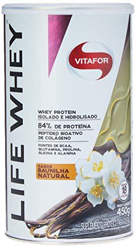 Life Whey Protein Isolado e Hidrolisado - 450G Baunilha Natural - Vitafor