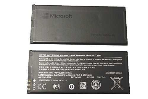 Nokia - Batteria originale per Lumia 950, BV-T5E, 3,85 V, 3000 mAh, 11,6 Wh