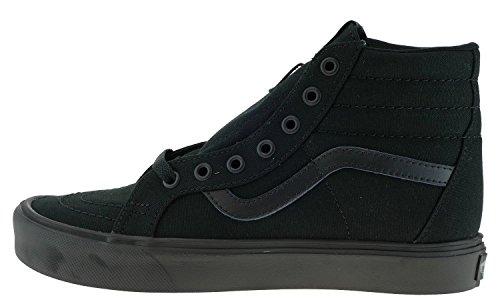 Vans Sk8-Hi Lite Plus, Scarpe da Ginnastica Unisex – Adulto, Nero (Canvas/Black/Black), 37 EU