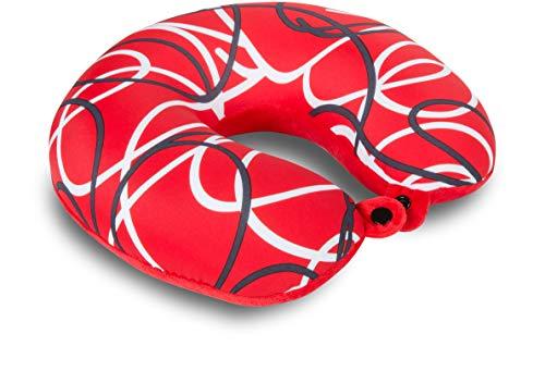 Kuschel-Maxx Cojín Cervical, diseño de líneas, Color Rojo