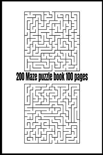 200 Maze puzzle book 100 pages