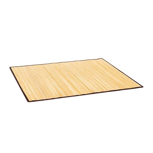 Relaxdays Badvorleger Bambus Badeteppich aus Holz mit rutschhemmender Unterseite in drei Farben wählbar