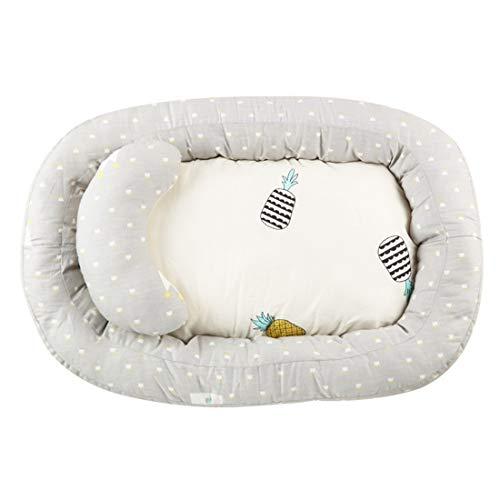 YUENA CARE Nido Cuna Suave para Bebé, Baby Nest Reductor Protector Portátil de Viaje Respirable, Tumbona Cama para Dormir para Bebés con Almohadilla Extraíble