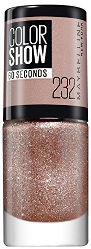 Maybelline New York ColorShow Nagellack Nr. 232 Rose Chic, bringt die Laufsteg-Trends aus New York auf die Nägel, in glitzerndem rosa, 7 ml