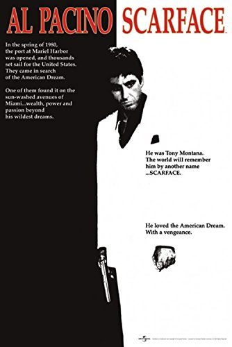 1art1 Scarface - Al Pacino, Movie Poster 91 x 61 cm
