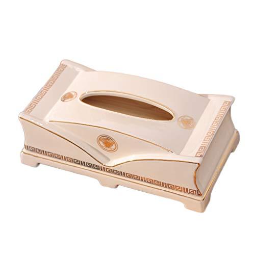 GWF Tissue Box Tissue Holder, Home Wohnzimmer Esstisch Couchtisch Luxus Geschenk Kosmetik Gesicht Handtuch Aufbewahrungsbox Keramik