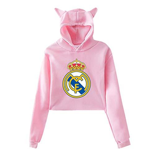 Re-Al Ma-Drid Cat Ear Hoodie Sweater Pink