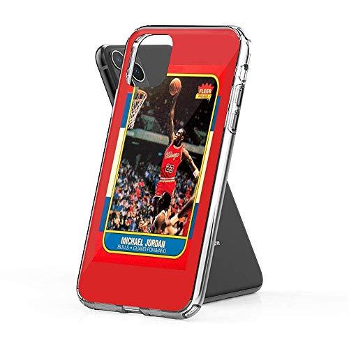 GBEBFA Compatibile con iPhone 6/6s Custodia Pure Clear Morbido TPU Protettivo Custodie per Telefoni Cover Michael Jordan Chicago Bulls NBA Basketball Rookie Card