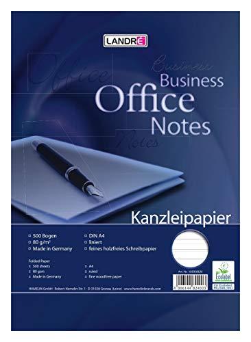 LANDRÉ Fogli protocollo Lineatura 21, a righe'Office', 80 g/m² Papier