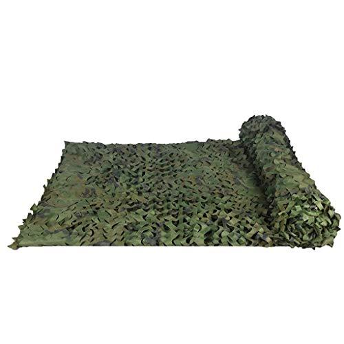 AGWa Voile d'ombrage Woodland Camo Netting camouflage Tarp Mesh Net léger et pliable Bâches couverture Tissu Oxford Tissu militaire pour Camping Chasse Tir militaire,#1,1,5 x 9M