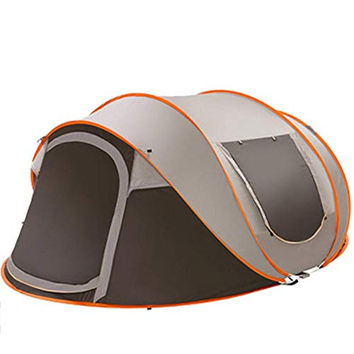 HLSX Ultralight Large Camping Tent Waterproof Windproof Shelter Pop Up Automatic Tents Travel Hiking Tents,green