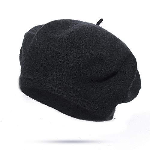N-N Boina para Mujer Gorra De Boina Slida De Moda para Mujer Primavera Y Verano Gorra Octogonal Clida Boinas En Sombrero De Mujer Bare-G