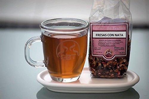 SABOREATE Y CAFE THE FLAVOUR SHOP Infusión Natural a Granel de Frutas Fresas con Nata 100 grs.