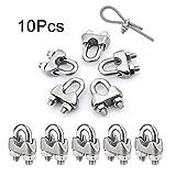 10 abrazaderas M6 de cuerda de alambre para abrazaderas de acero inoxidable 304 M6 disponibles, 10pcs of M6, Wire Rope Clips