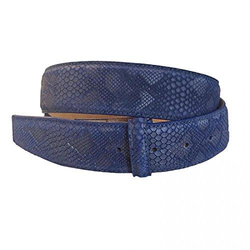 VMP Unisex Gürtel Alaska Odel AME932 Leder verschiedene Farben, Größe:85;Farbe:Blau
