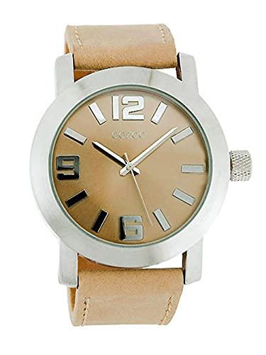 Oozoo JR201 Damen-Armbanduhr, Lederarmband, Sandfarben