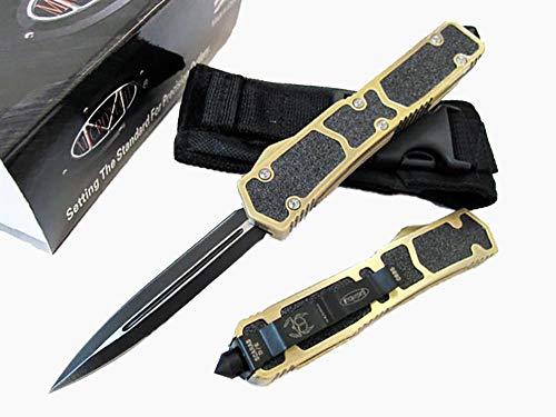 Klappmesser Scharf Stahl Messer Klinge Aluminium Griff Einer Messer Gold Taschenmesser Fahrtenmesser Einhandmesser klein Survival Halskette Messer Outdoor werkzeuge Hammer Wandern Jagen/Scheide