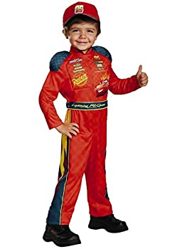 Disney Cars Toddler Boys Lightning McQueen Halloween Race Car Driver Costume 2T