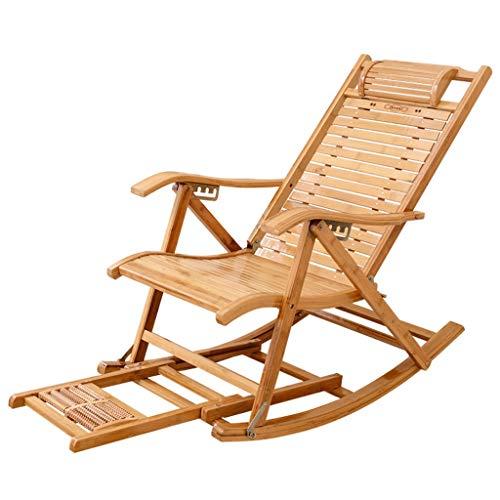 Fauteuils inclinables en bambou Chaise pliante pour adultes Chaise pour la sieste Home Chaises fraîches Chaise Old Man Chaise pause déjeuner