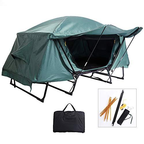 Outdoor Zelt,Faltzelt Regendicht Und Atmungsaktiv Dachzelt Camping-Zelt-Bett Außen Freizeit Folding Angeln Dach Über Den Boden Zelt Cot Folding Schlafenbett,Single
