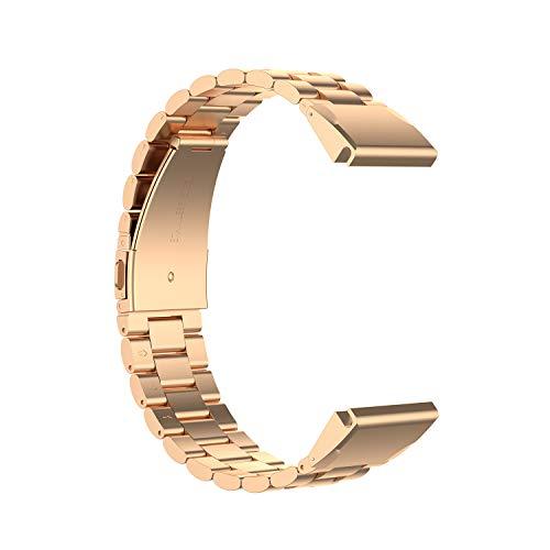 TopTen Correa de reloj de acero Sainless de 22 mm, de ajuste rápido, compatible con Garmin Forerunner 935,945/Fenix 5/Fenix 5 Plus/Fenix 6/Fenix 6 Pro/Instinct Correa (oro rosa)
