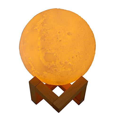 Fesjoy Humidificador Aromaterapia Ultrasónico, Difusor de Aceites Esenciales 800ml, Humidificador de Luz Lunar,3 Colores LED, Silencioso