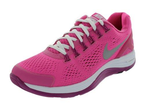 Nike Lunarglide 4 Big Kids Style Shoes 525371, Pink/Light Purple, 4.5