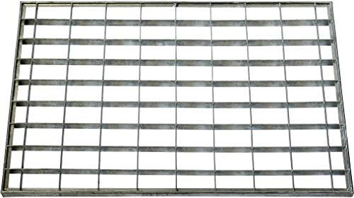 ID Mate 4060_ L Rejilla Metal Alfombra Felpudo Acero galvanizado Gris 60x 40x 2cm