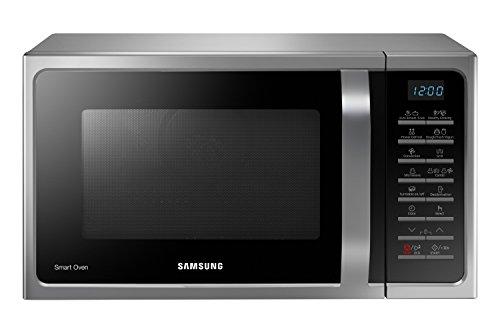Samsung MC28H5015CS Forno a Microonde Combinato, SmartOven, 900 W, Grill 1500 W, 28 L, Argento 31x52x48cm