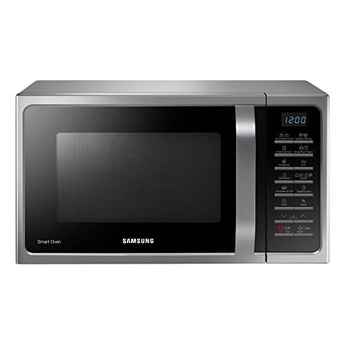 Samsung MC28H5015CS Forno a Microonde Combinato, SmartOven, 900 W, Grill 1500 W, 28 L, 51.7 x 31 x 47.6 cm, Argento