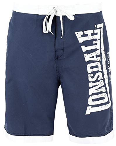 Lonsdale London Mens Clennell Shorts, Navy/White, XXL