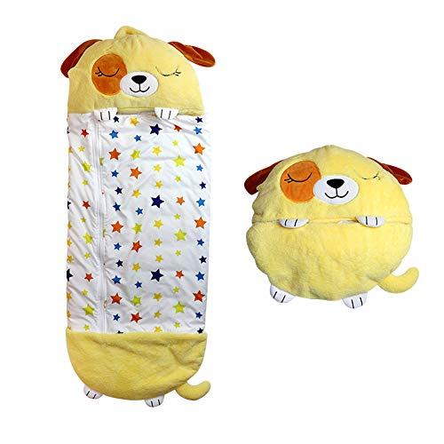 Almohada y Saco de Dormir para niños Happy Nappers Grande, diseño de Dibujos Animados Lindo para niños, Divertido Saco de Dormir 2 en 1, Pijama Ultra Suave para niños y niñas (6-9 años)